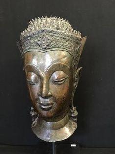 Art Thai, Buddha Head, Buddhist Art, Religious Art, Asian Art, Handmade Art, Buddhism, Buddha Statues, 18th Century