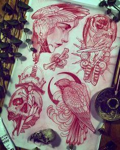 Traditional Tattoo Old School, Traditional Tattoo Flash, Dibujos Tattoo, Desenho Tattoo, Neo Tattoo, Tattoo Ink, Henna Tattoos, Tattoo Sketches, Tattoo Drawings