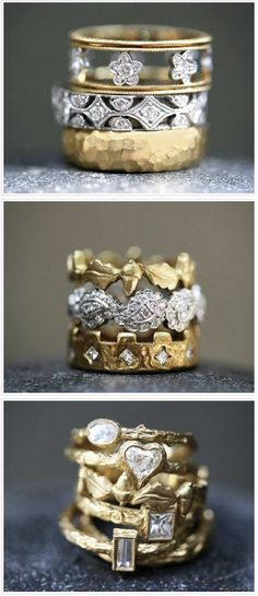 Beautiful Diamond and Gold bands Jewelry Rings, Jewelry Box, Jewelry Watches, Jewelry Accessories, Fine Jewelry, Jewelry Design, Silver Jewelry, Cartier Diamond Rings, Bijoux Art Nouveau
