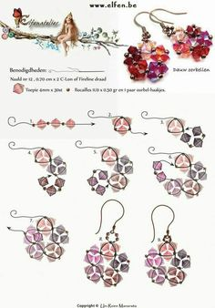 jewelry making tutorials Best Seed Bead Jewelry 2017 Flor estrella Seed Bead Tutorials - Seed bead jewelry Flor, estrella ~ Seed Bead Tutorials Discovred by : Linda LinebaughPretty crystal earrings pattern from Elfen be. Free Pattern for Beaded EarringsPe Seed Bead Jewelry, Bead Jewellery, Seed Bead Earrings, Diy Earrings, Crystal Earrings, Copper Earrings, Star Earrings, Flower Earrings, Seed Beads