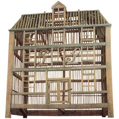 Shop bird cages and other antique and vintage collectibles from the world's best furniture dealers. Bird Cage Design, Large Bird Cages, Behind Bars, Bird Boxes, Birdcages, Nesting Boxes, French Chateau, Birdhouses, Barns
