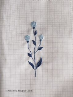blue embroidery Hand Embroidery, Embroidery Designs, Hand Stitching, Doodles, Lettering, Sewing, Floral, Blue, Scrappy Quilts