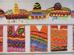 5 DIY Party Crafts for Cinco De Mayo - for kids Mexican Crafts, Mexican Folk Art, Mexico For Kids, Arte Elemental, Hispanic Art, Diy Party Crafts, 3rd Grade Art, Grade 3, Spanish Art