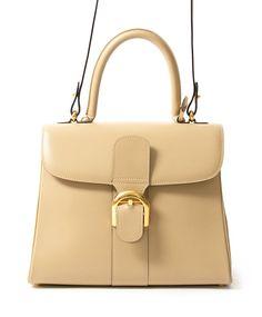 Delvaux Brillant MM Sand seconde main authentique en ligne shopping webshop Anvers Belgique LabelLOV luxe marques designer fashion style sacs