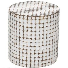 Juliette Coco White End Table