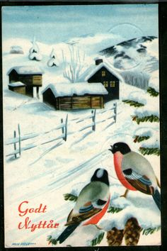 Nordic Thoughts: A small hi from me with the Norwegian artist Milly Heegaard Last Christmas, Christmas Cards, Xmas, Christmas Postcards, Norwegian Christmas, Nordic Christmas, Vintage Cards, Norway, Scandinavian