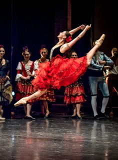 Anastasia Matvienko performing Don Quixote at Savcor Ballet Festival (Act I). Photo by Jack Devant