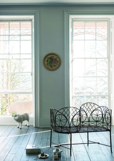 Farrow & Ball paint color Dimpse inspired by twilight southwest of England Farrow Ball, Farrow And Ball Paint, Kitchen Colour Schemes, Bedroom Color Schemes, Paint Schemes, New Paint Colors, Wall Colors, Pavilion Grey, Bedroom Turquoise