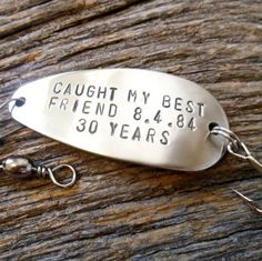 Fishing Lure Gifts for Best Friends Long Distance 30th Wedding Anniversary Husband Wife Friendship Spinner Spoon Bait Birthday Son Christmas