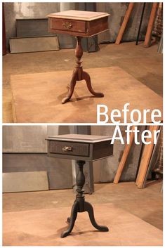 A boring end table becomes fashionable and full of personality through this Flee Market Flip.