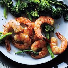 Roasted Shrimp and Broccoli. I am a huge Shrimp fan and can basically eat it anyway that it is prepared. Love the idea of serving it with Broccoli as well!