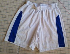 Nike Shorts Mens S Small Dri Fit Lined  Running Soccer White Blue  #Nike #Shorts