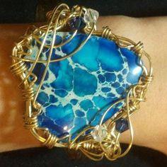 Imperial Jasper Bracelet. $35.00, via Etsy.
