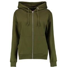Boohoo Tasha Zip Through Hoody | Boohoo ($14) ❤ liked on Polyvore featuring tops, hoodies, cotton hooded sweatshirt, green top, zip hoodie, green hooded sweatshirt and cotton hoodies
