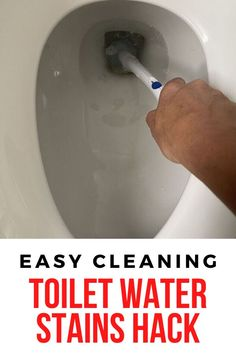 Check out this easy and simple toilet cleaning hack idea. This bathroom cleaning for your toilet bowl is cheap and quick. #hometalk Deep Cleaning Tips, Cleaning Solutions, Cleaning Hacks, Cleaning Recipes, Cleaning Products, Toilet Cleaning, Bathroom Cleaning, Cleaning Toilets, Toilet Hard Water Stains