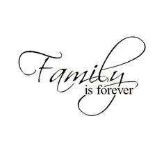 This inspirational vinyl art applies to smooth surfaces like walls, glass, tile and more. It features the saying 'Family is Forever.' Artist: Unknown Title: 'Family is Forever' Product type: Vinyl wal