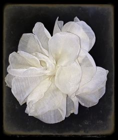 Ivory flower. Great for weddings, hair, bridesmaids, decorations. $6,00, via Etsy.