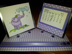 Calendar made with little claires stamp