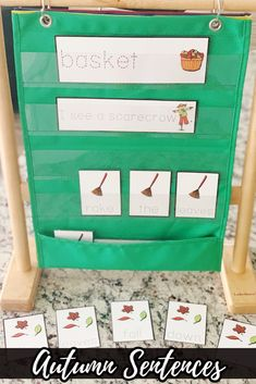 Autumn Sentence Centers for early writers - differentiate by using included sentence models or add activities to independent writing centers. Themed autumn paper included!