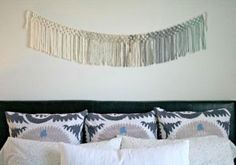 Macrame Wall Hanging above Bed