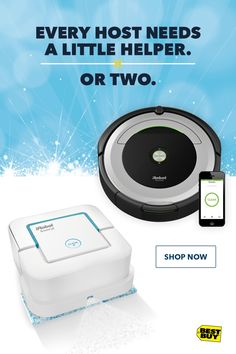 When the party's at your place, let iRobot vacuums and mops take care of cleaning the floors. The Roomba robot vacuum helps you win the battle against dust and dirt, while the Braava robot mop tackles dirt and stains on hard floors. With this perfect pair, it's easy to give yourself the gift of more time and less cleaning.