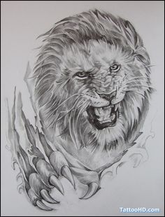 Image result for realistic lion tattoo