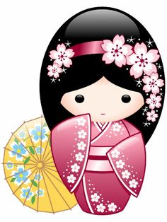 Sweet Creations: products on Zazzle Matryoshka Doll, Kokeshi Dolls, Holly Hobbie, Geisha Art, Umbrella Girl, Arts And Crafts, Paper Crafts, Thinking Day, Japanese Art