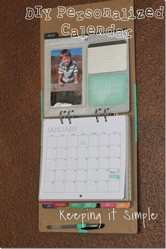 Keeping it Simple: DIY personalized calendar. May bean. Idea for next year then I can customize each page exactly how I want it and print the new pages each year!!!  Hmmm mm :)