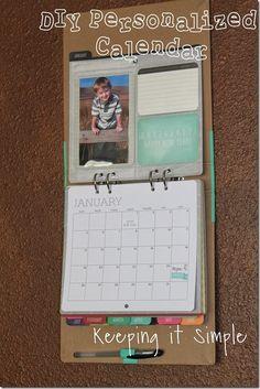 Keeping it Simple: DIY personalized calendar.