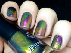 beautiful oilslick nails