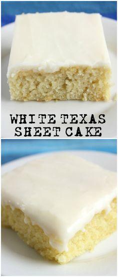 White Texas Sheet Cake The Killer Recipes White Sheet Cakes, White Texas Sheet Cake, Texas Sheet Cakes, Texas Cake, White Cakes, Pink Cakes, Food Cakes, Cupcake Cakes, Birthday Cakes