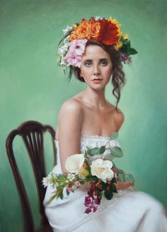 Flora, 29 x 21 inches, Oil on linen, by Amy Ling