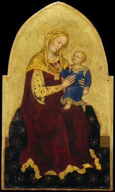 Gentile da Fabriano  Madonna and Child Enthroned, c. 1420