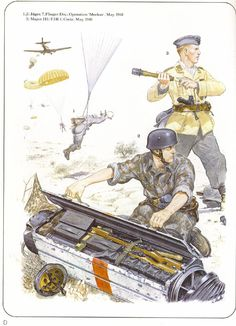 "LUFTWAFFE1-2 Jaeger. 7. Flieger Div, Operation ""Merkur"", May 1941 - 3 Major, III /FJR1, Crete maggio 1941"