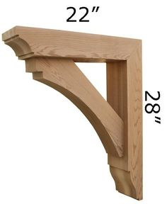 Our high quality Handcrafted Wooden Brackets are made out of solid Western Red Cedar. Wood Brackets can be used in a wide variety of exterior and… Wood Canopy, Wooden Brackets, Window Awnings, Covered Pergola, Diy Pergola, Pergola Ideas, Diy Wood Projects, Wood Construction, Wood Species