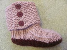 Free Knitting Patterns   Free knitting pattern for easy slippers with cuffs   Sketch Everything