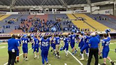Iowa 8-man high school football team wins 108-94 - High School Football America High School Football, Football Team, Jeff Fisher, Football America, Start High School, Year Book, Championship Game, Recorded Books, Panthers
