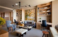Cozy Contemporary Living & Family Room by Shawn Henderson on HomePortfolio
