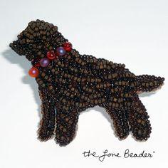 Vente : Souvenir de laboratoire de chocolat perles bijoux broche pendentif Labrador Retriever chien / prêt à être expédier / USA Free shipping