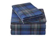 Pinzon 160 Gram Plaid Velvet Flannel Sheet Set