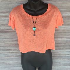 Mossimo orange aztec crop top Perfect condition! Worn 1x. Really bright and summery! 57% polyester 43% cotton Mossimo Supply Co Tops Crop Tops
