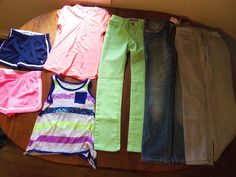 Girls Clothing size 8 Justice  Old Navy 3 Pairs Jeans, 2 shorts, 2 tops #JusticeOldNavy #Everyday