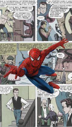 #Spiderman #Fan #Art. (Spiderman on his comics) By: Unknown. (THE * 5 * STÅR * ÅWARD * OF: * AW YEAH, IT'S MAJOR ÅWESOMENESS!!!™)[THANK Ü 4 PINNING!!!<·><]<©>ÅÅÅ+(OB4E)