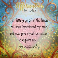 Success Quotes: QUOTATION - Image : As the quote says - Description I am letting go of all the fences that have imprisoned my heart! Healing Affirmations, Positive Affirmations Quotes, Self Love Affirmations, Money Affirmations, Affirmation Quotes, Positive Quotes, Inspirational Quotes For Women, Motivational Quotes, Success Quotes