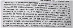 Policiacas: Fiscal informa hechos Blue Parrot