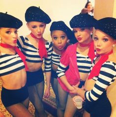 Kendall, Chloe, Nia, Brooke, and Maddie in 'Alouette' group dance