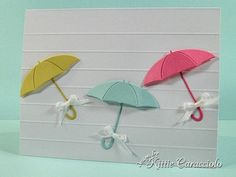 Cute CAS card with Memory Box Umbrella die
