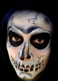 Face Painting Halloween model I've made in event
