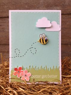 Margriet Creatief, Stampin' Up!, Create a Cupcake punch,Petite Petals, Bug You, Birthday Wishes, Four You, Embossing Pouwder White, Uni-bal Signo Gelpen White