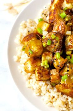 Crispy Orange Tofu